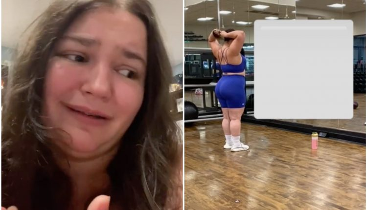 Plus-sized TikTok influencer films woman laughing at her at the